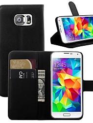 abordables -Coque Pour Samsung Galaxy Samsung Galaxy Coque Porte Carte / Avec Support / Clapet Coque Intégrale Couleur Pleine faux cuir pour S7 edge / S7 / S6 edge