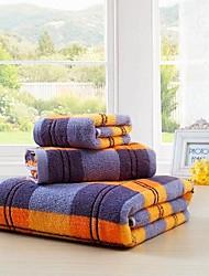 Недорогие -Набор банных полотенец Как на фотографии,Жаккард Высокое качество 100% хлопок Полотенце