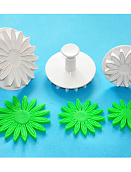 FOUR-C Africa Daisy/Sunflower Fondant Cake Decorating Plunger Cutters,Sugarcraft Cutters,Cake Decorating Tools