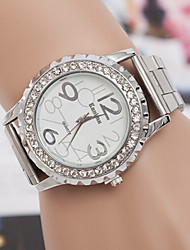 cheap -yoonheel Women's Simulated Diamond Watch Fashion Watch Casual Watch Quartz Swiss Imitation Diamond Designers Metal Band Charm Silver Gold