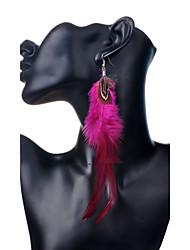 Žene Viseće naušnice Boemski stil Perje Perje Paun Jewelry Party Dnevno Kauzalni