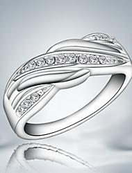 Недорогие -Классические кольца Стерлинговое серебро Циркон Цирконий Мода Заявление ювелирные изделия Серебряный Бижутерия Для вечеринок 1шт