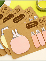 Animal 2 Shapes Kraft Paper Self-Stick Note(Random Color)