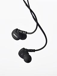 genuína 3,5 milímetros miniso headphone em canal auditivo super bass com remoto microfone para samsung S4 S5 S6