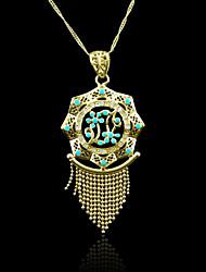 18k verdadeiro pingente banhado a ouro borla 6,5 * 3,3 centímetros