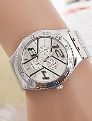 Недорогие -zaraa женщин / мужчин стальной ленты аналогового кварцевого случайные часы