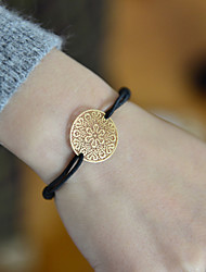cheap -Fashion Women Flower Cut Out Stamping Elastic Bracelet Christmas Gifts