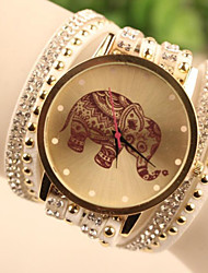 cheap -Fashion Women's Elephant South Korea Style Watch Cool Watches Unique Watches
