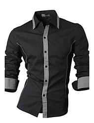 economico -MEN - Camicie casual - Informale A camicia - Maniche lunghe Misto cotone