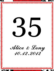 cheap -Personalized Square Table Number Card--Black and White Pattern (Set of 10)
