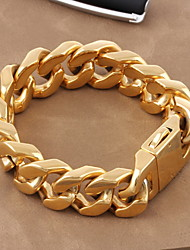 Kalen 2015 Men's Jewelry Stainless Steel High Quality Professional Gold Nugget Bracelet Gifts