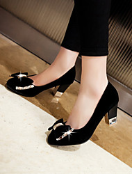 cheap -Women's Shoes Chunky Heel Round Toe Pumps Dress Shoes More Colors Available