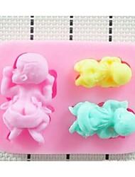 3d liquides modellingtools gâteau en silicone de chocolat fondant décoration moule cuisson de la cuisine ustensiles de cuisson de la mode