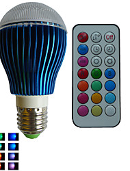 abordables -RGB lm E26/E27 Bombillas LED de Globo A80 3PCS leds LED de Alta Potencia Regulable Decorativa Control Remoto RGB AC 85-265V