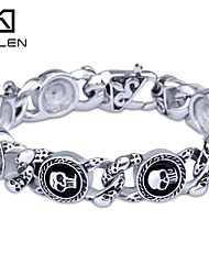 cheap -Kalen 2015 Men's Jewelry New Custom Fashion Casting Skull Charm Bracelet Christmas Gifts