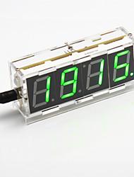 DIY 4-digit Seven-segment Display Digital Light Control Desk Clock Kit (Green Light)