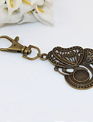 cheap -Fashion Unisex Retro Hollow Out Butterfly Pendant Keychains