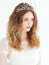 perlas de tiaras de cristal perla de estilo femenino clásico