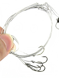 Practical Fishing Tackle Fishing Wire Bunch Hook Group - Silver