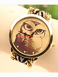 cheap -Fashion Women's Owl National Weaving South Korea Style Chain DIY Watch Cool Watches Unique Watches