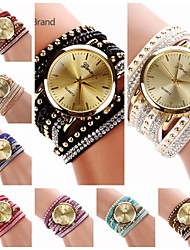 cheap -Women's Bracelet Watch Hot Sale Leather Band Charm / Fashion Black / White / Blue
