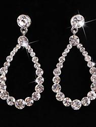 Orecchino Per donna Orecchini pendenti Argentato/Lega Diamanti/Cristalli