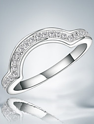cheap -2016 New Fashion Luxury Zircon Sterling Silver Band Ring For Women