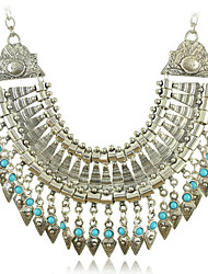 cheap -Women's  Necklaces with Silver and Turquoise Beads Tassel Pendants of New Arrival Bohemia Style Vintage