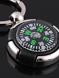 Unisex Alloy Casual Keychain Round Shape Compass Key Chains