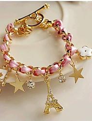 Lucky Star Women's Elegant Rhinestone Tassel Bracelet