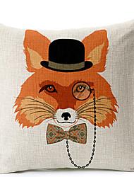 modernos óculos estilo fox modelado algodão / linho cobertura decorativa travesseiro