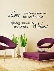 adesivos de parede adesivos de parede, estilo Inglês amor não está encontrando parede pvc adesivos