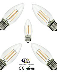 economico -ONDENN 5 pezzi 2800-3200 lm E26/E27 Lampadine LED a incandescenza C35 4 leds COB Oscurabile Bianco caldo AC 220-240 AC 110-130 V