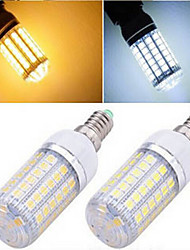 E14 LED Corn Lights T 69LED SMD 5050 1200 lm Warm White Cold White 2800-3500/6000-6500 K AC 220-240 V