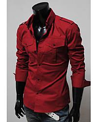 economico -MEN - Camicie casual - Informale Maniche lunghe Cotone