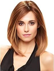 cheap -High Quality Capless Medium Wavy Mono Top Human Hair Wigs 4 Colors to Choose