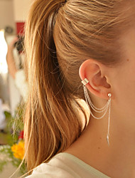Leaf Chain Earring Ear Cuff(1 pcs)
