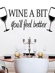 Wall Stickers Wall Decals, Style The New Wine Cup PVC Wall Stickers