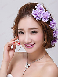 abordables -mariage floral violet / partie épingles à cheveux de mariée (3 pièces / ensemble) style élégant