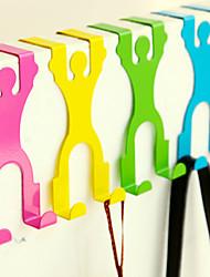 Cartoon Design Overdoor Hanging Hook Closet Rack Door Back Holder(Random Color) 14.5*6.8*3cm