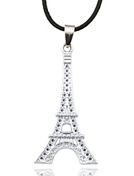 cheap -Men's Leather Pendant Necklace - Tower Silver Bronze Necklace For Sports