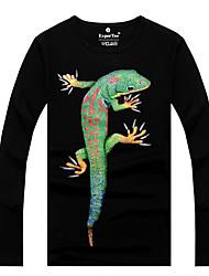 economico -MEN - T-shirt - Stampa Rotondo - Maniche lunghe Cotone organicp