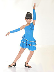 cheap -Shall We Latin Dance Dresses Children Performance Training Dress
