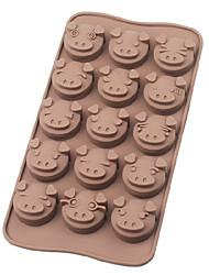 hesapli -sevimli domuz yüz silikon çikolata kalıpları