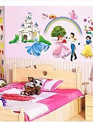 wall stickers Vægoverføringsbilleder, prins og prinsesse pvc wall stickers