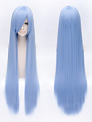Parrucche Cosplay Tutor Hitman Reborn! Cosplay Blu Lungo Anime Parrucche Cosplay 100 CM Tessuno resistente a calore Uomo / Donna