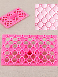 cheap -Heart Quilt Fondant Square Cutter Lattice Cake Cupcake Embossing Tool Embosser