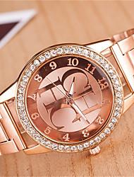 Недорогие -z.xuan женщин / мужчин стальной ленты аналогового кварц случайные часы более цветов