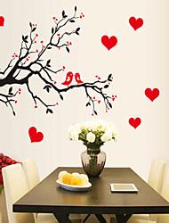 baratos -Animais Desenho Animado Botânico Adesivos de Parede Muro de férias Adesivos Autocolantes de Parede Decorativos, Vinil Decoração para casa