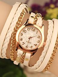 Недорогие -COO женская кожаная Band Аналоговое кварц случайные часы (разных цветов)